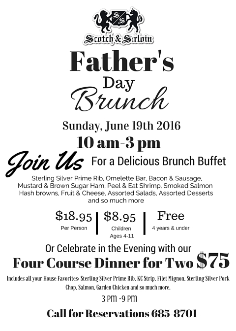 Fathers Day Brunch Newspaper ad